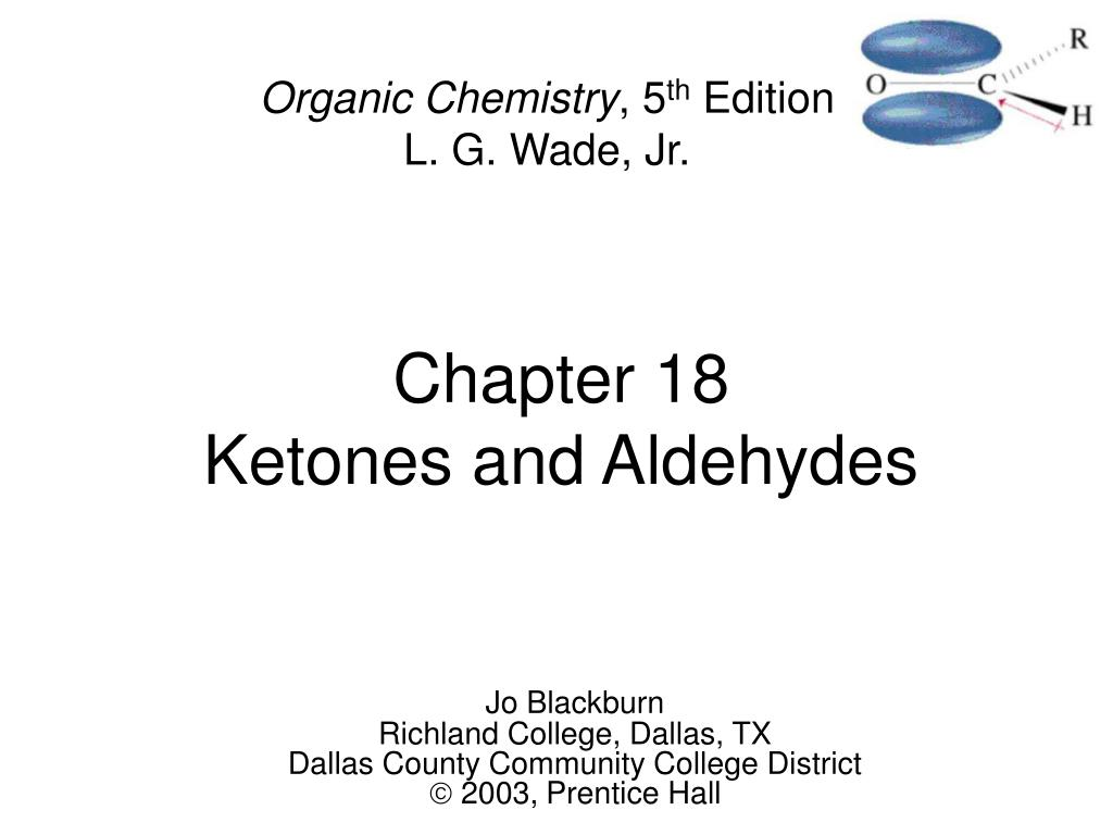 chapter 18 ketones and aldehydes l.