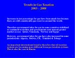 trends in gas taxation 2003 2008