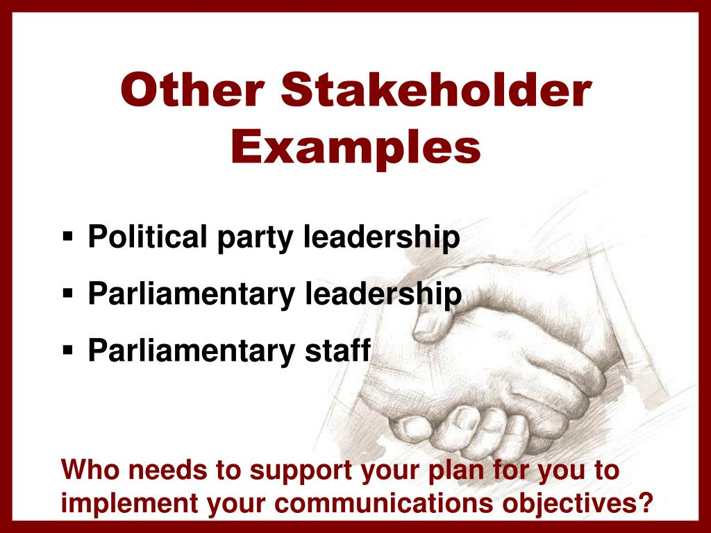 Other Stakeholder