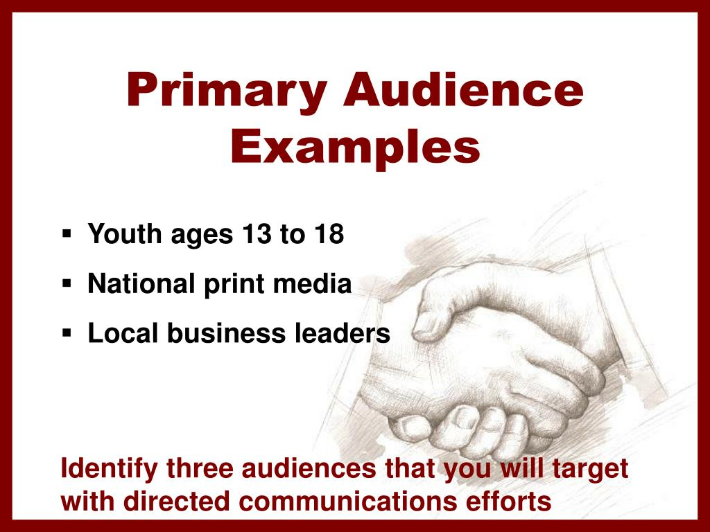 Primary Audience
