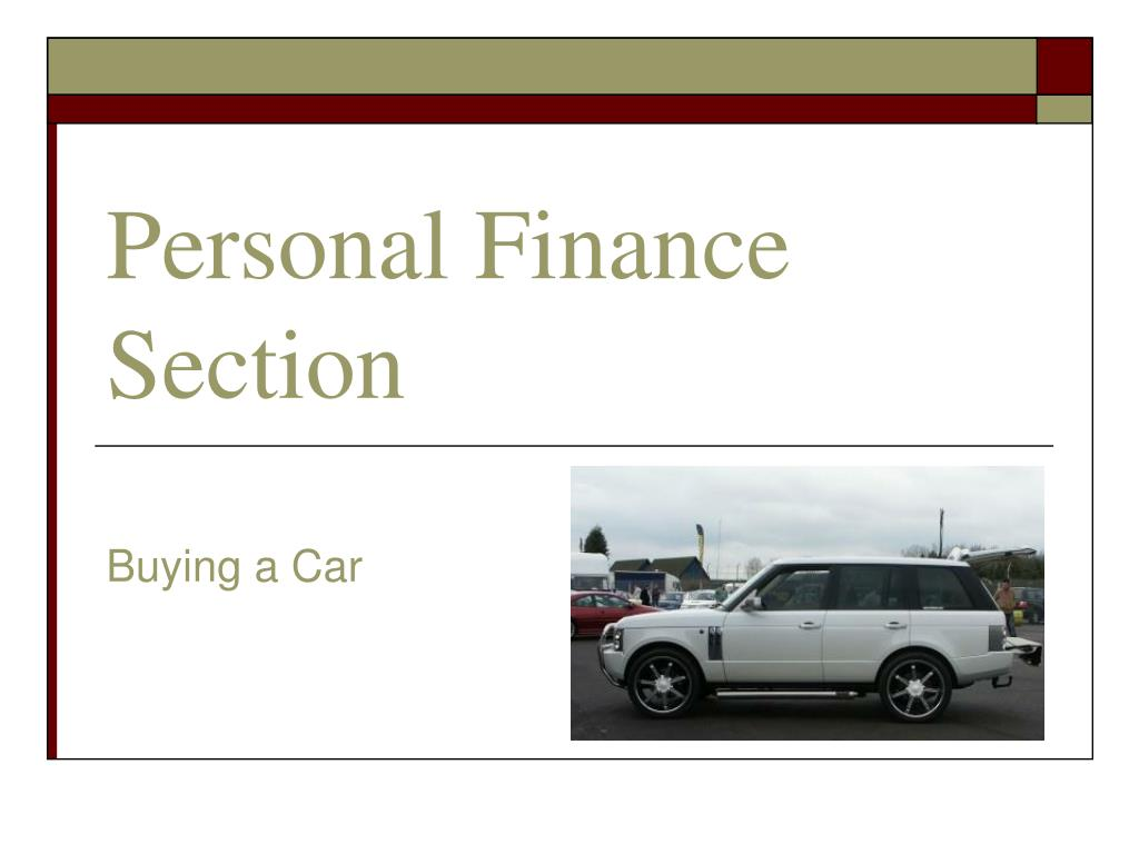personal finance section l.