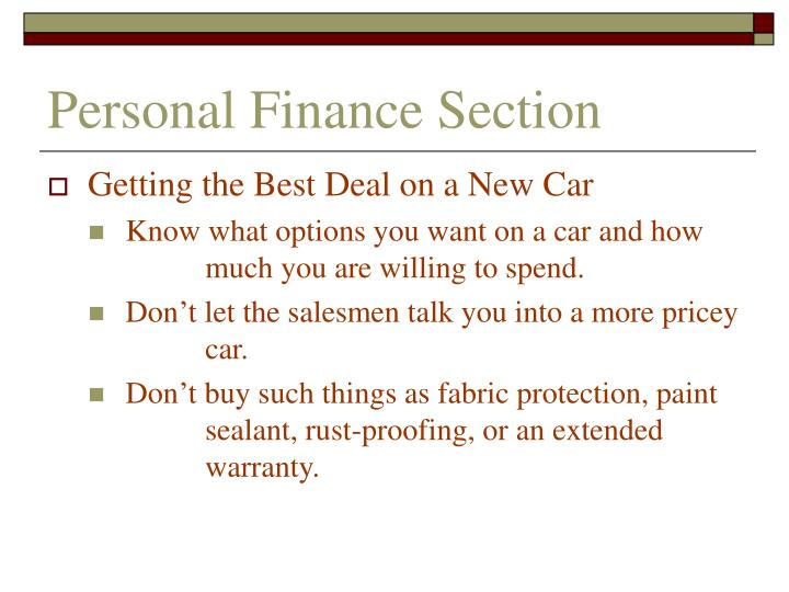 Personal finance section3
