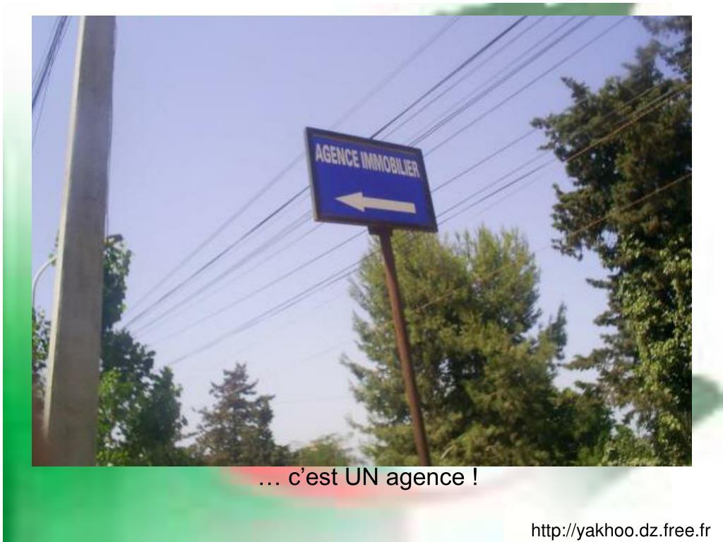 … c'est UN agence !