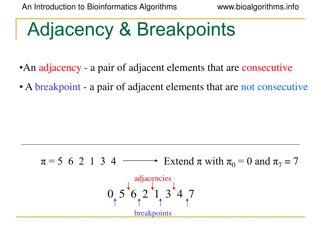 Adjacency & Breakpoints