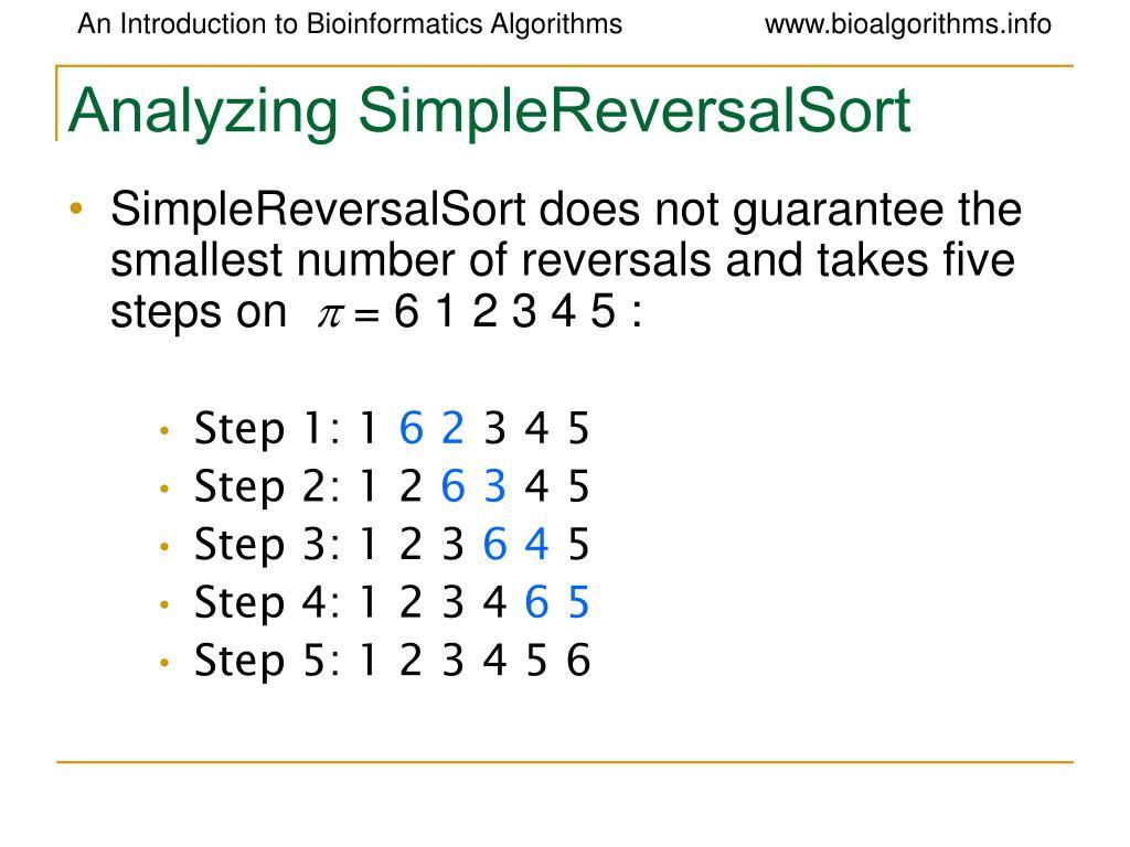 Analyzing SimpleReversalSort