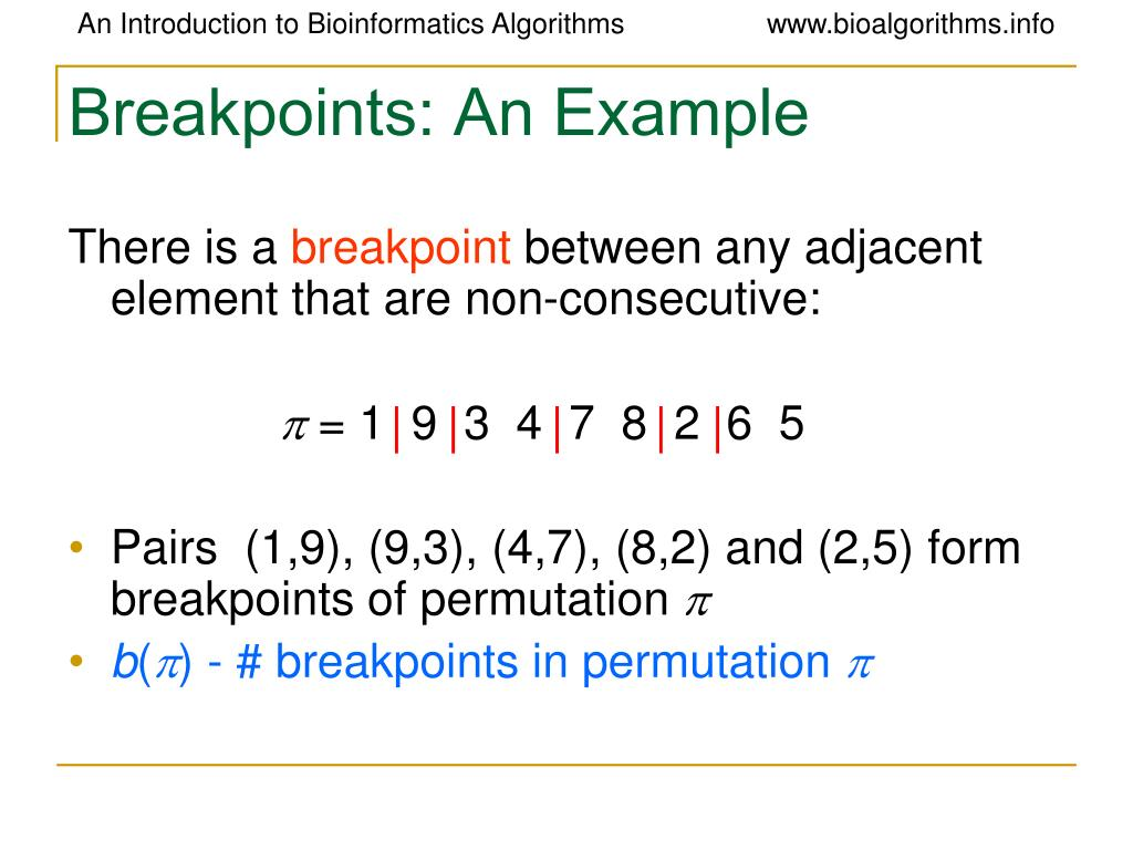 Breakpoints: An Example