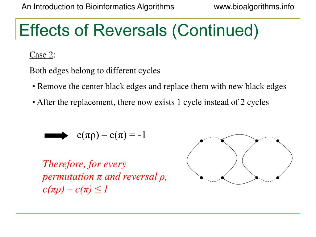 Effects of Reversals (Continued)