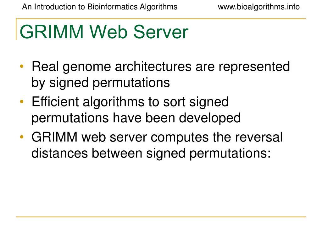 GRIMM Web Server