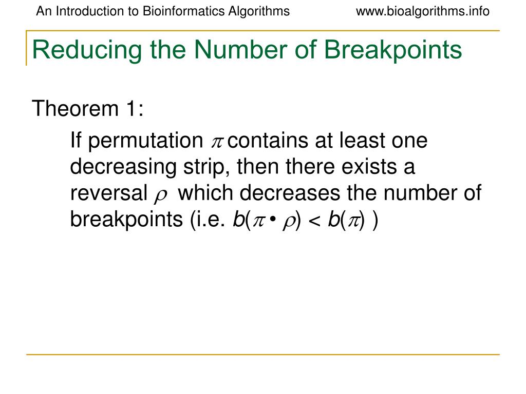 Reducing the Number of Breakpoints