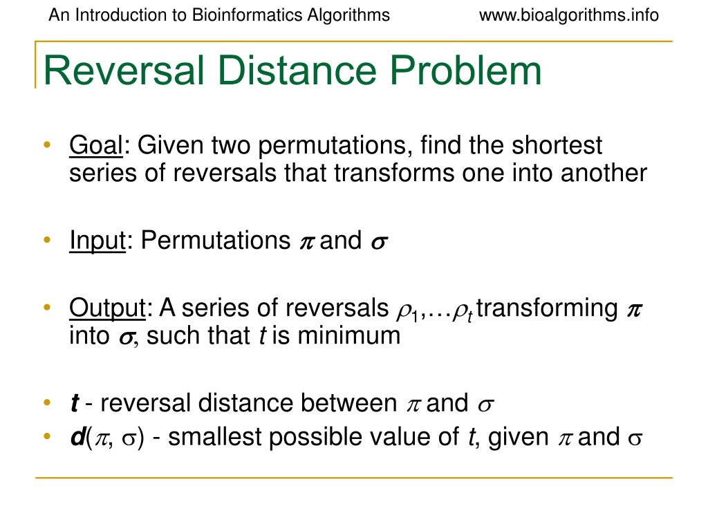 Reversal Distance Problem
