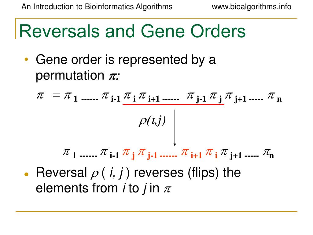 Reversals and Gene Orders