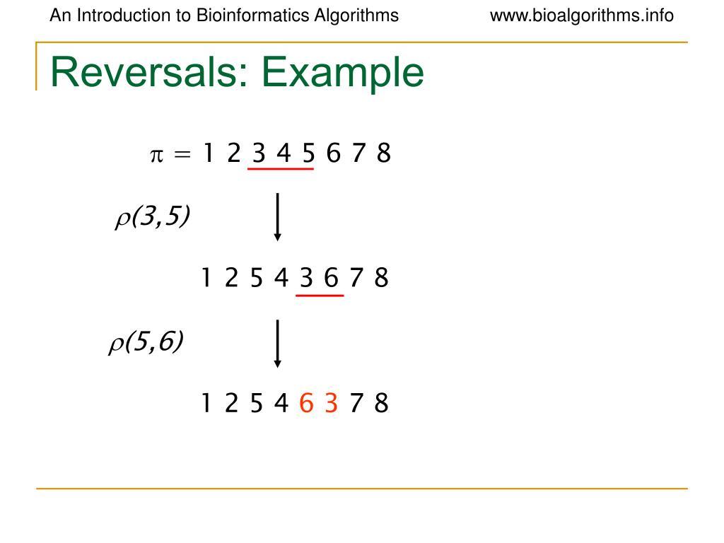 Reversals: Example
