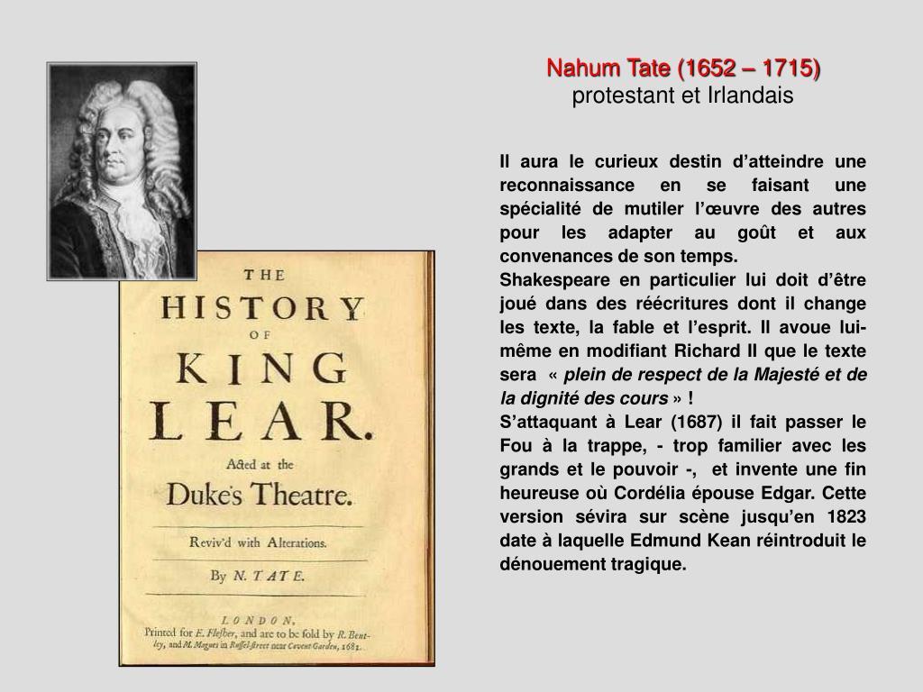 Nahum Tate (1652 – 1715)
