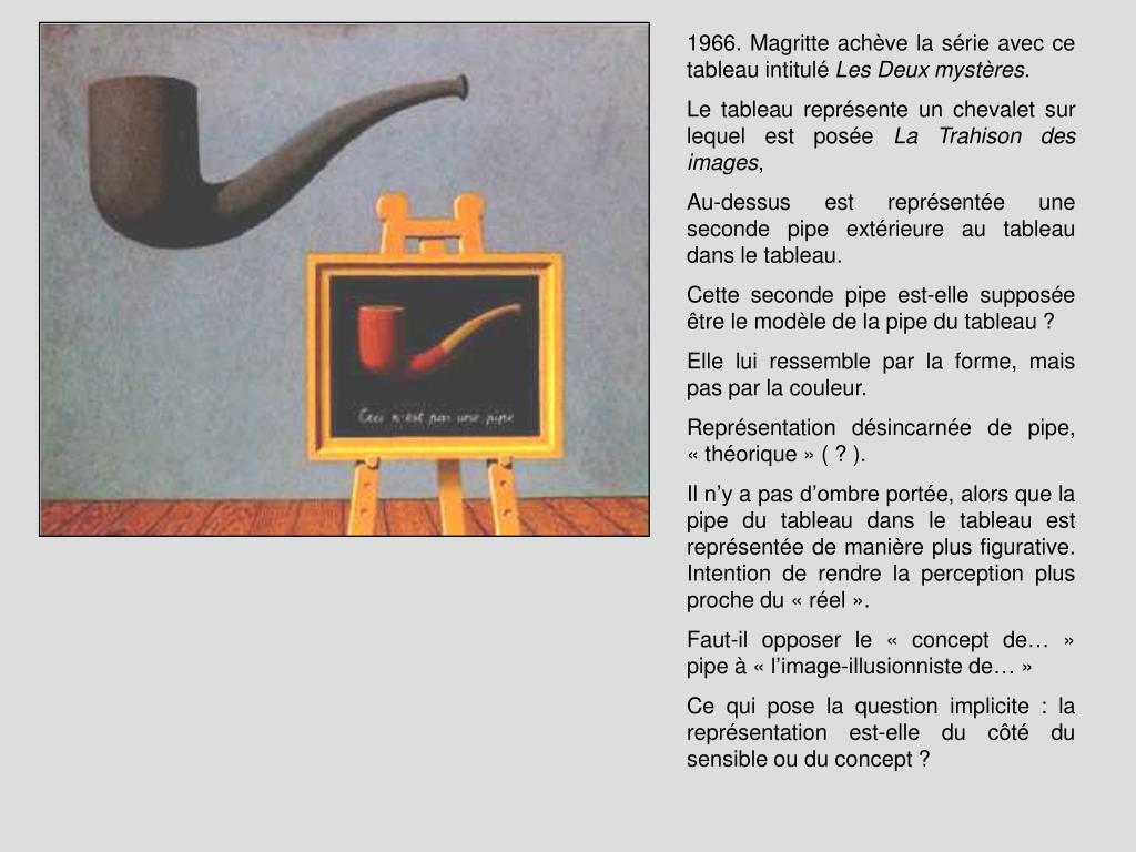 1966. Magritte achève la série avec ce tableau intitulé