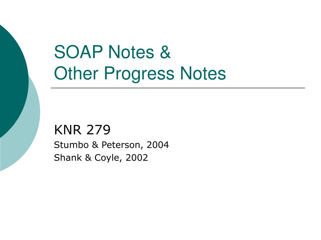 soap notes other progress notes l.
