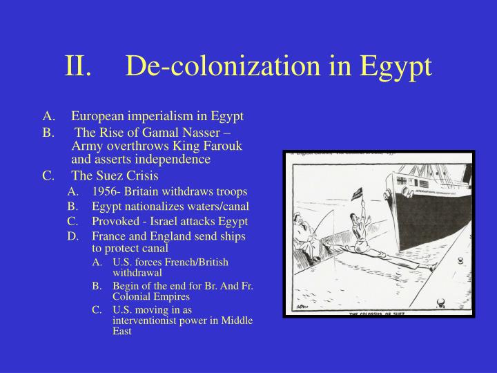 colonization of egypt Strategy edit egypt under cleopatra has a bonus towards domination victory (via the maryannu chariot archer) however, this is not necessarily the only route, as.