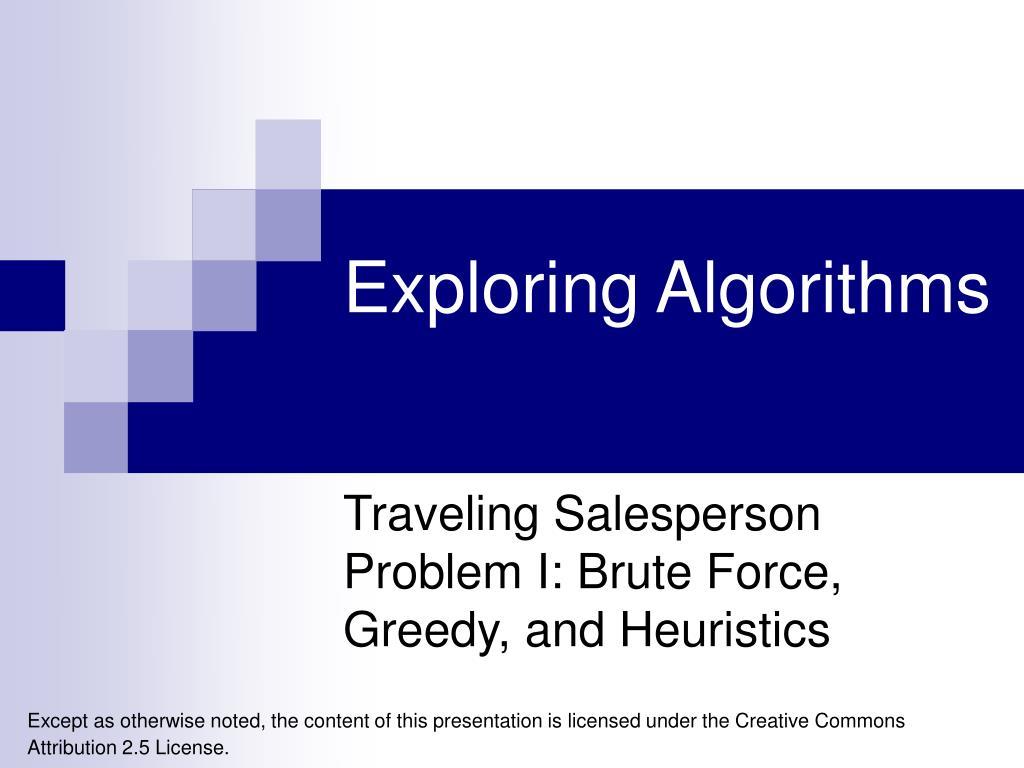 exploring algorithms l.