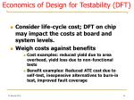 economics of design for testability dft