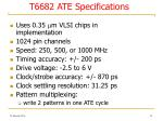 t6682 ate specifications