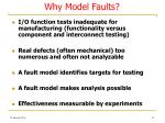 why model faults