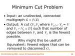 minimum cut problem