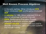 well known process algebras