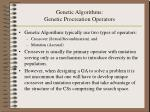 genetic algorithms genetic procreation operators15