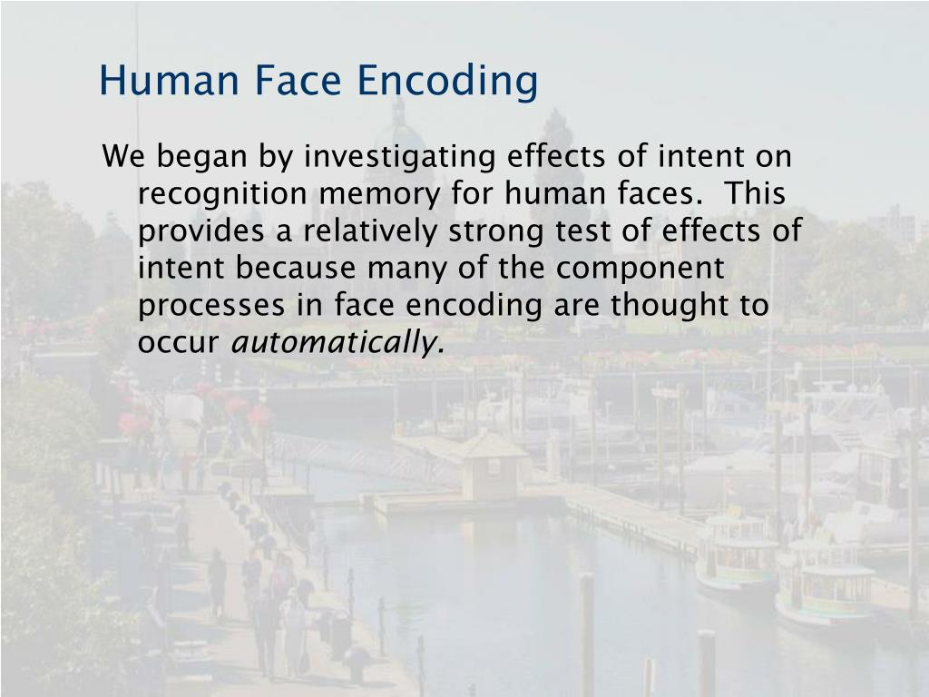 Human Face Encoding