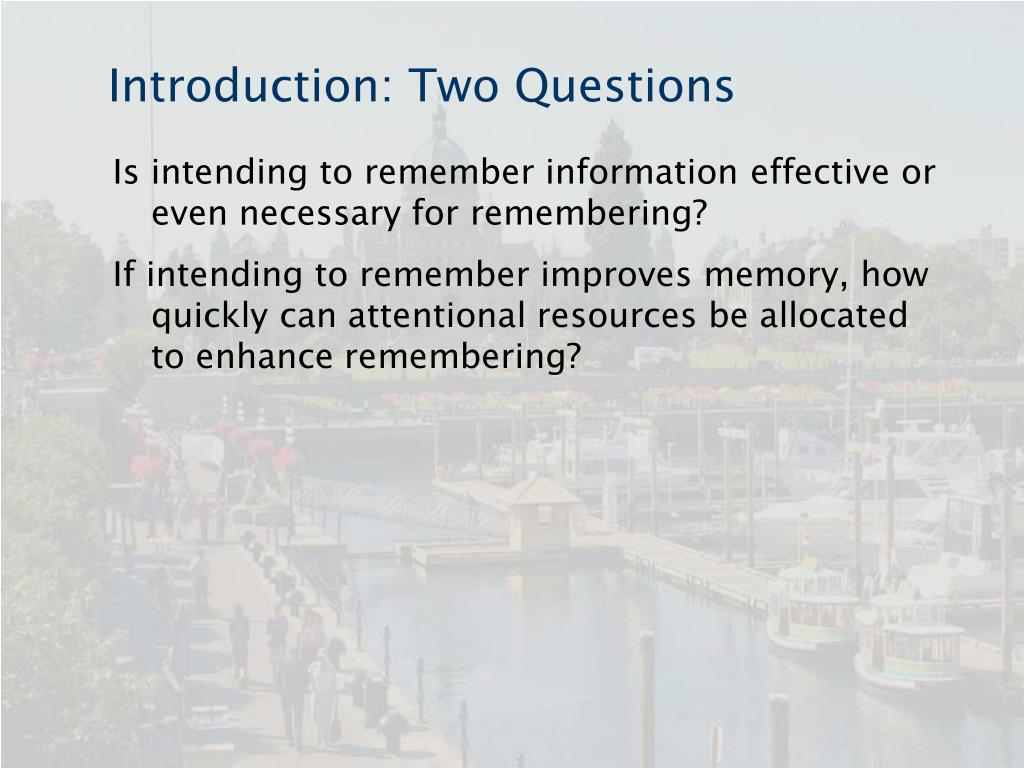 Introduction: Two Questions