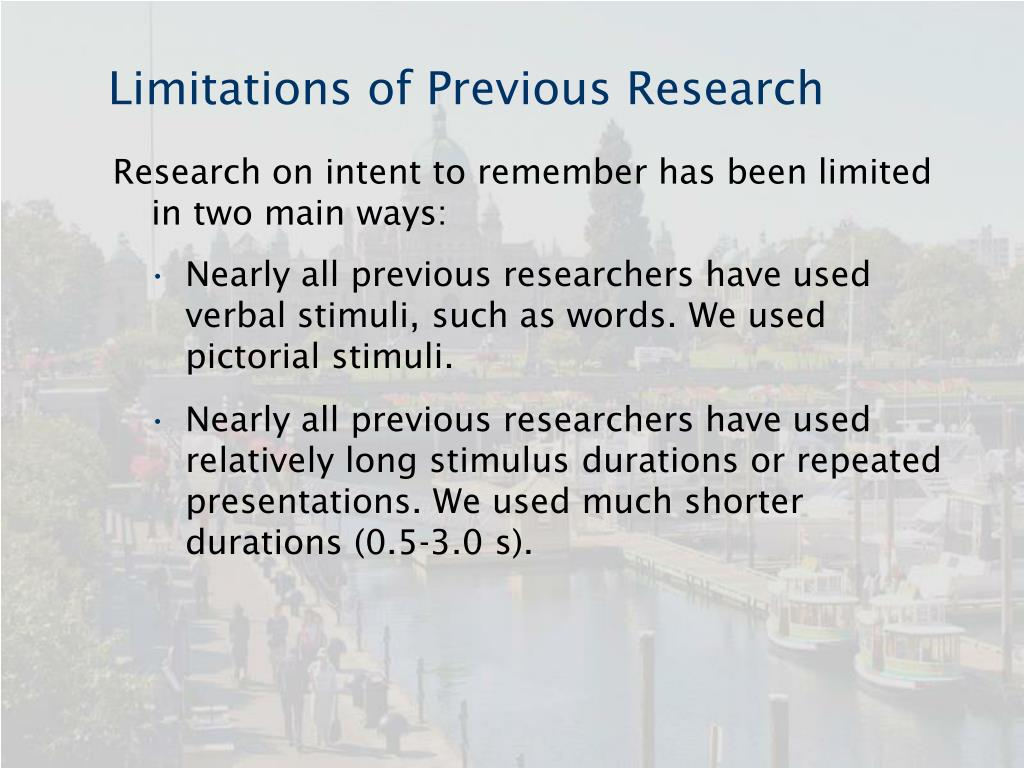 Limitations of Previous Research