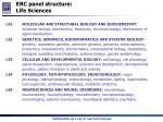 erc p anel structure life sciences
