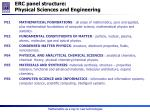 erc p anel structure physical sciences and engineering