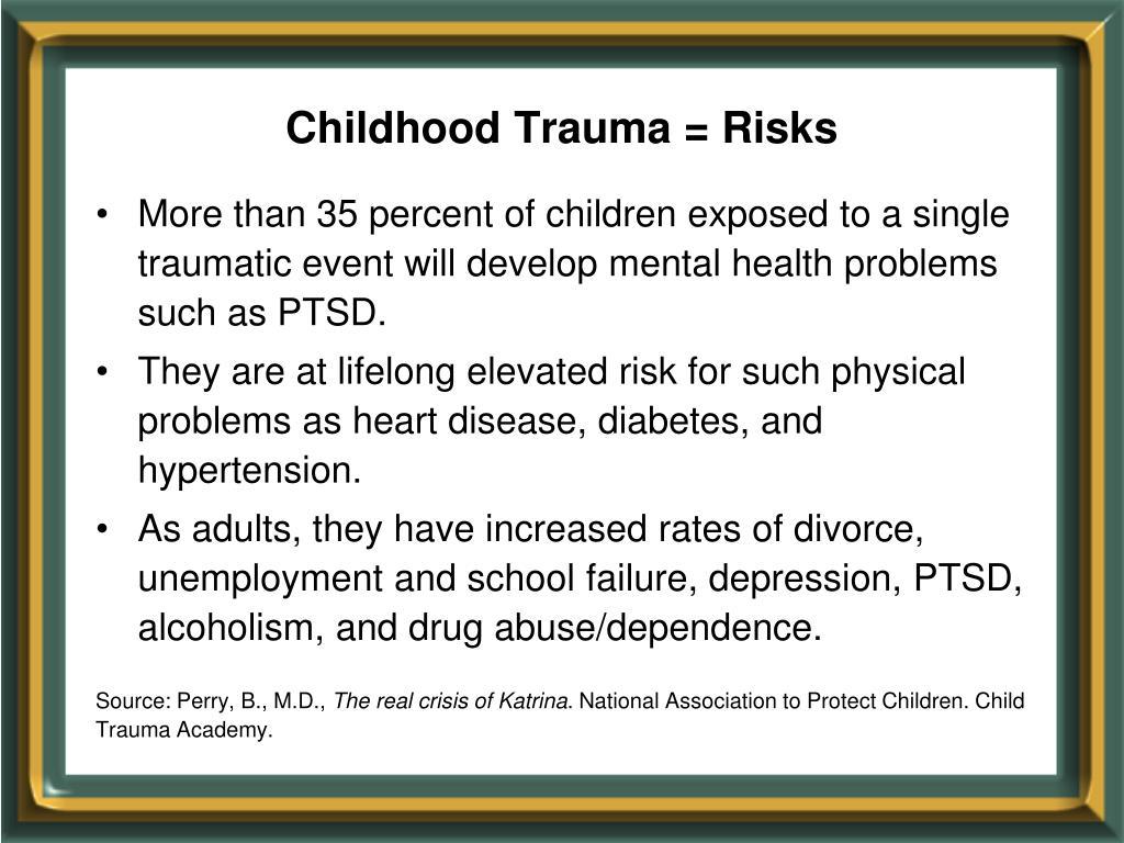 Childhood Trauma = Risks