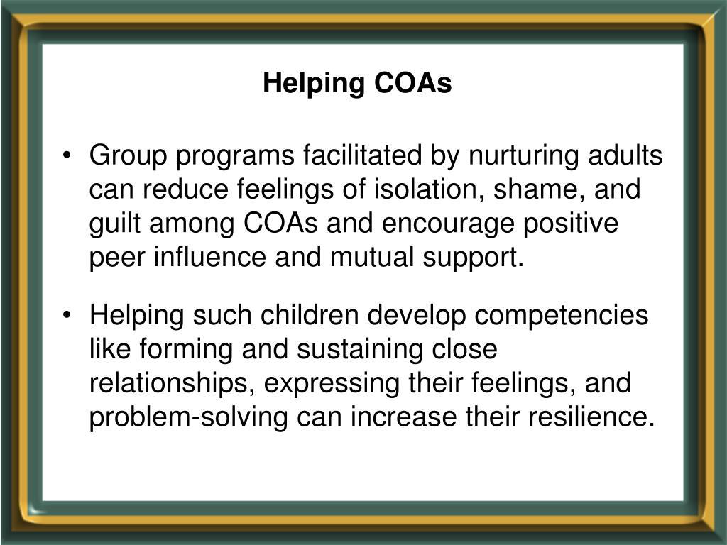 Helping COAs