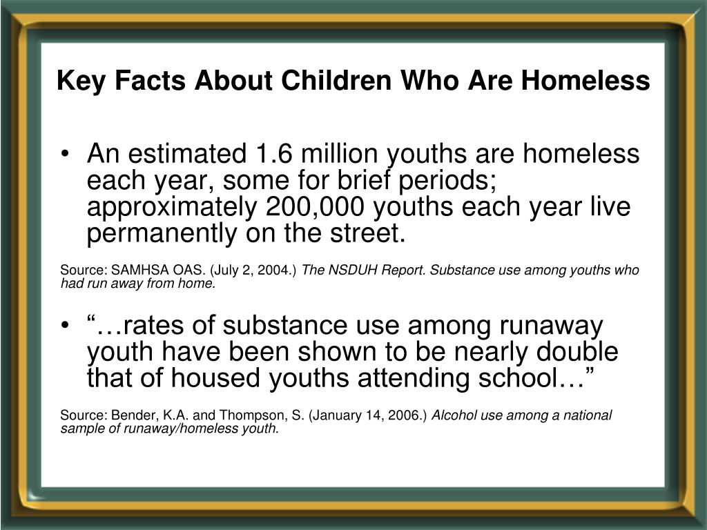 Key Facts About Children Who Are Homeless