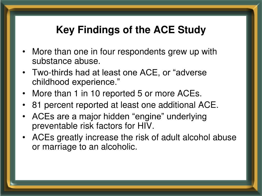 Key Findings of the ACE Study