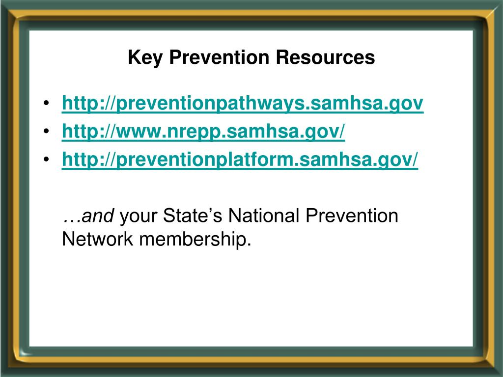 Key Prevention Resources