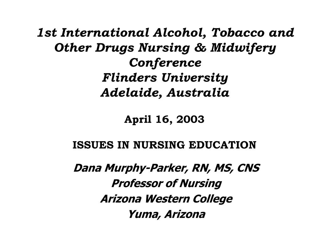 dana murphy parker rn ms cns professor of nursing arizona western college yuma arizona l.