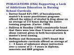 publications usa supporting a lack of addictions education in nursing school curricula