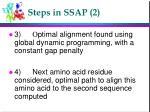 steps in ssap 2
