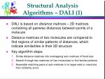 structural analysis algorithms dali 1