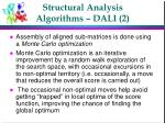 structural analysis algorithms dali 2
