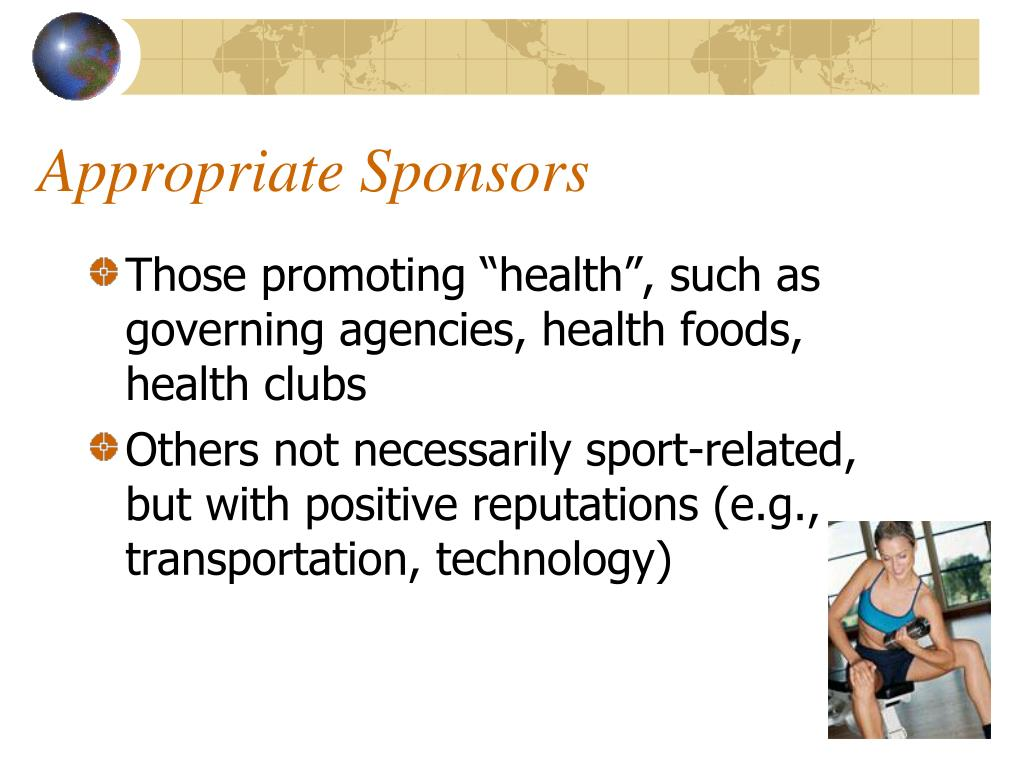 Appropriate Sponsors