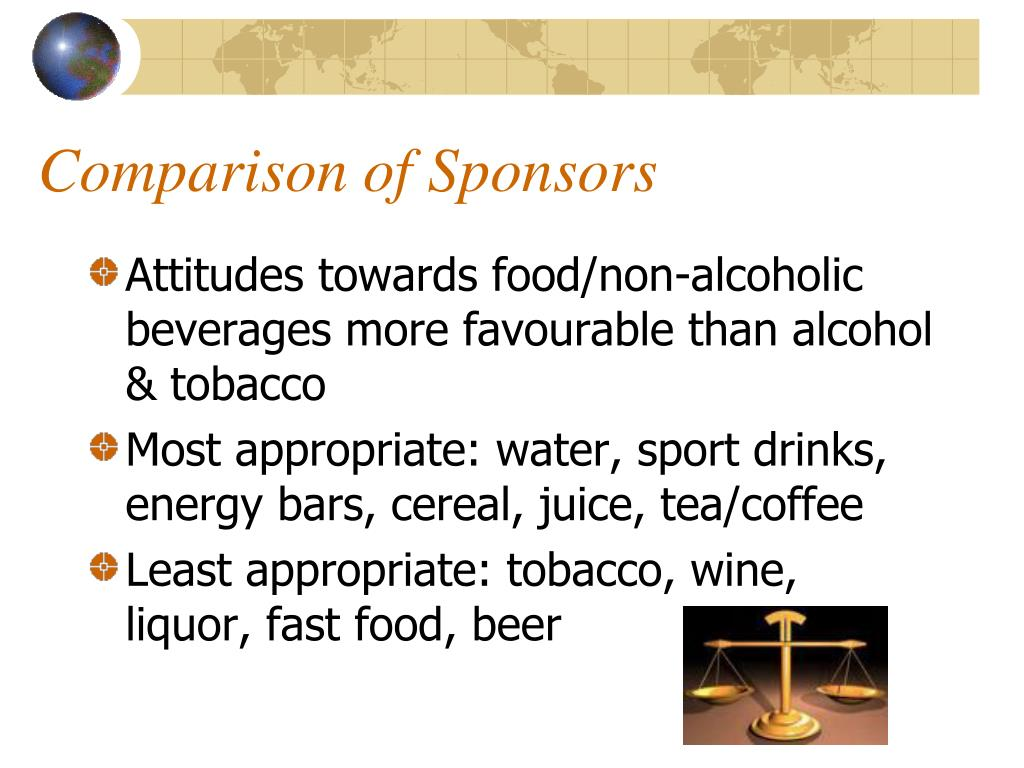 Comparison of Sponsors
