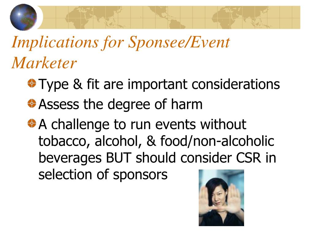 Implications for Sponsee/Event Marketer