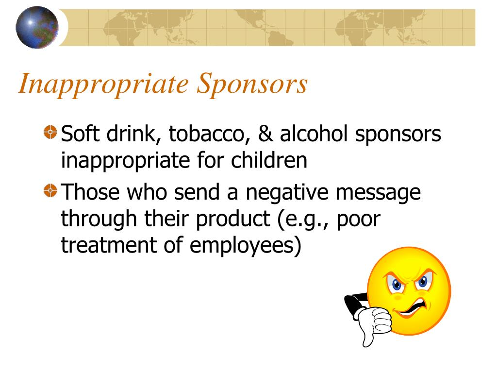 Inappropriate Sponsors