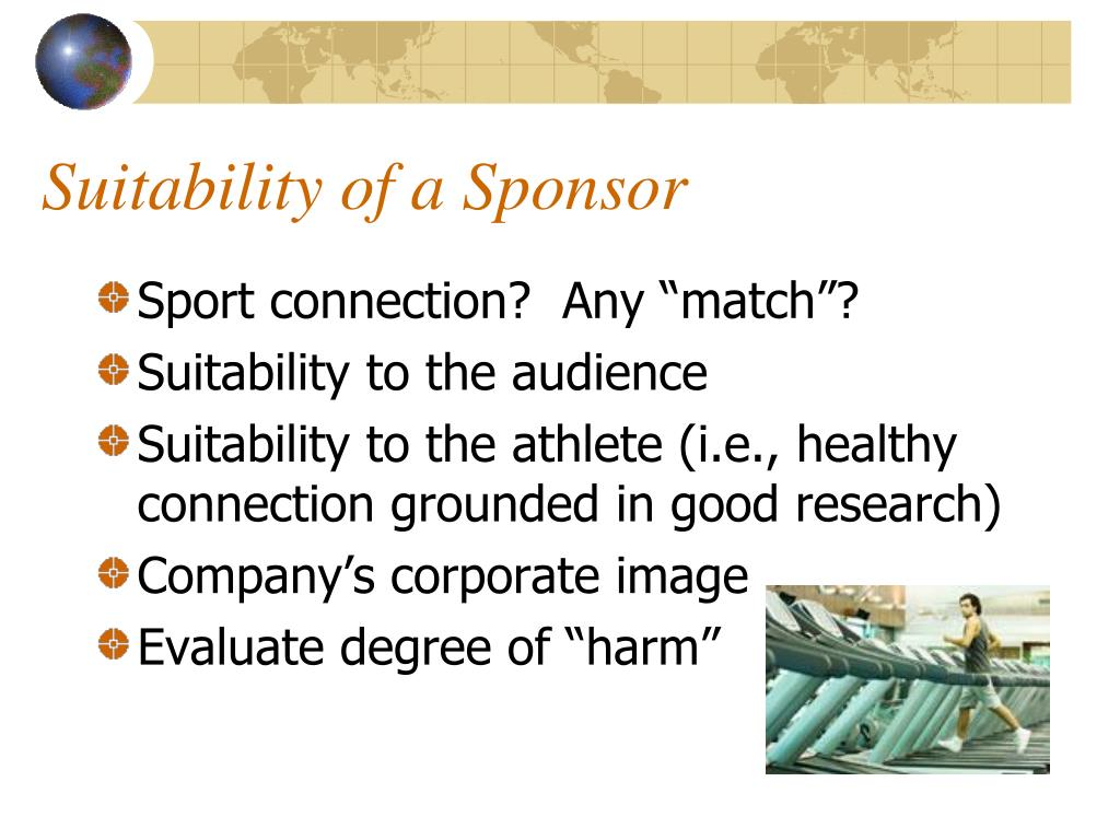 Suitability of a Sponsor