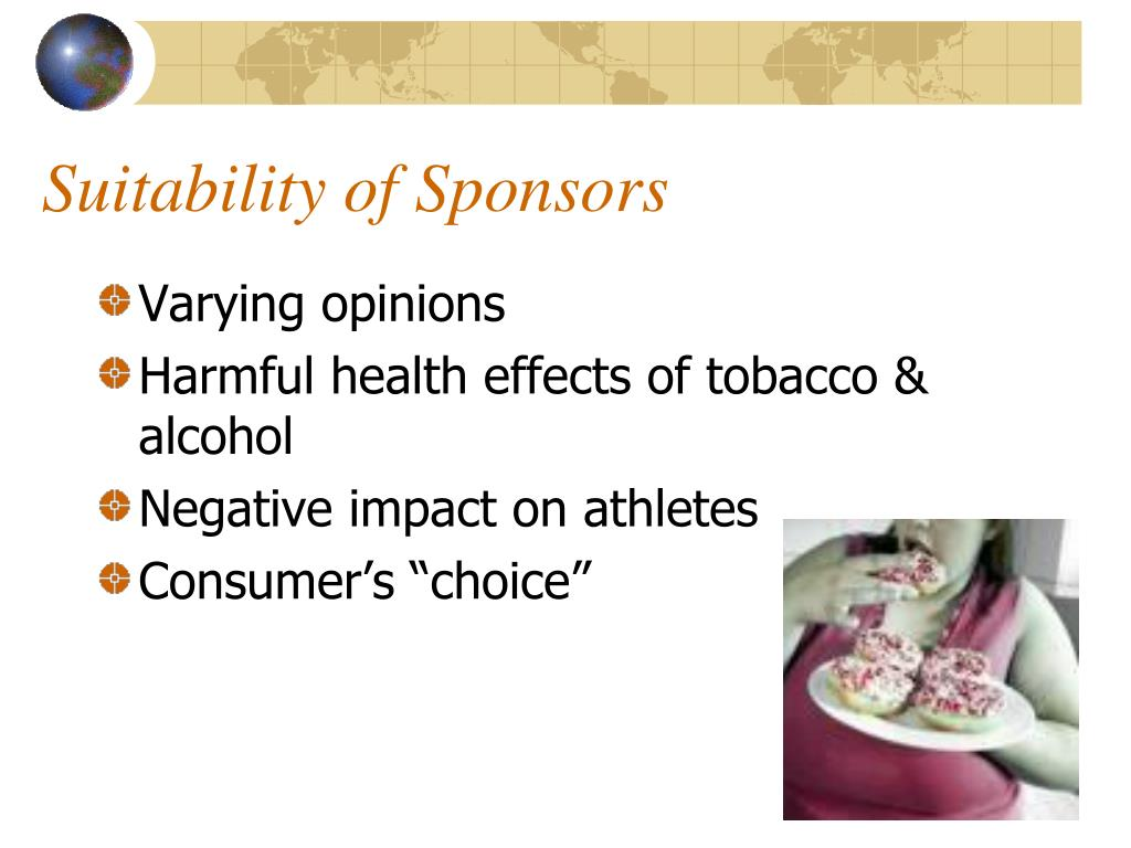 Suitability of Sponsors