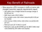 key benefit of railroads14
