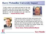 barry wehmiller university impact